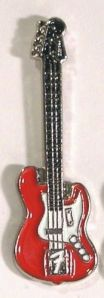electric guitar pin - red