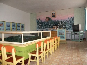 Kim-il-Jong room in Chongjin Kindergarten; every school must have a dedicated room to learn about the Dear Leader, the Great Leader and the Supreme Leader