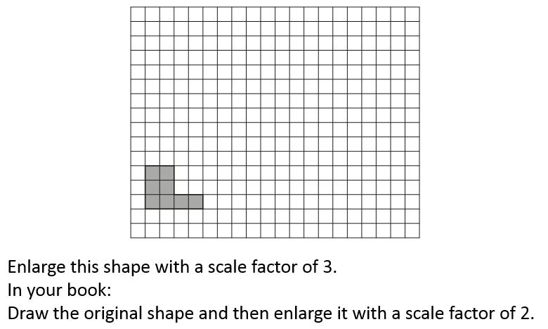 enlargements - modelled example