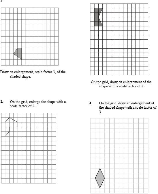 enlargements - worksheet part C