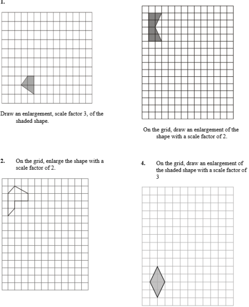 enlargements - worksheet part C
